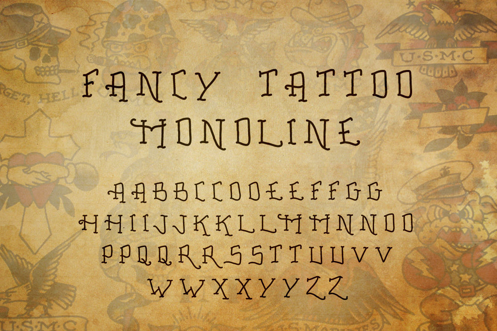 Tattoo Font Collection Out Of Step Company