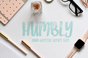 Humbley hand-written modern calligraphy font by Out of Step Font Company - outofstepfontco.com
