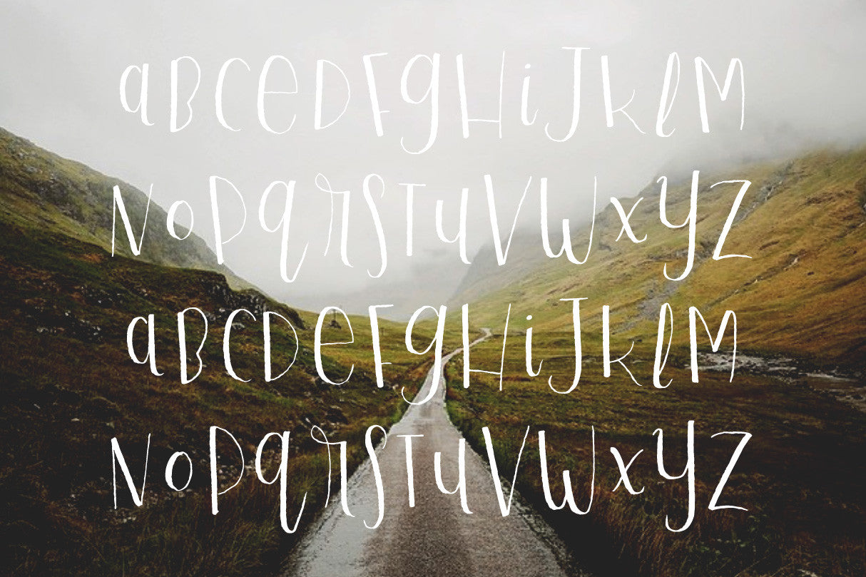 Playful Script Regular hand-written modern calligraphy font by Out of Step Font Company - outofstepfontco.com