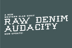 Raw Denim Audacity Regular Font
