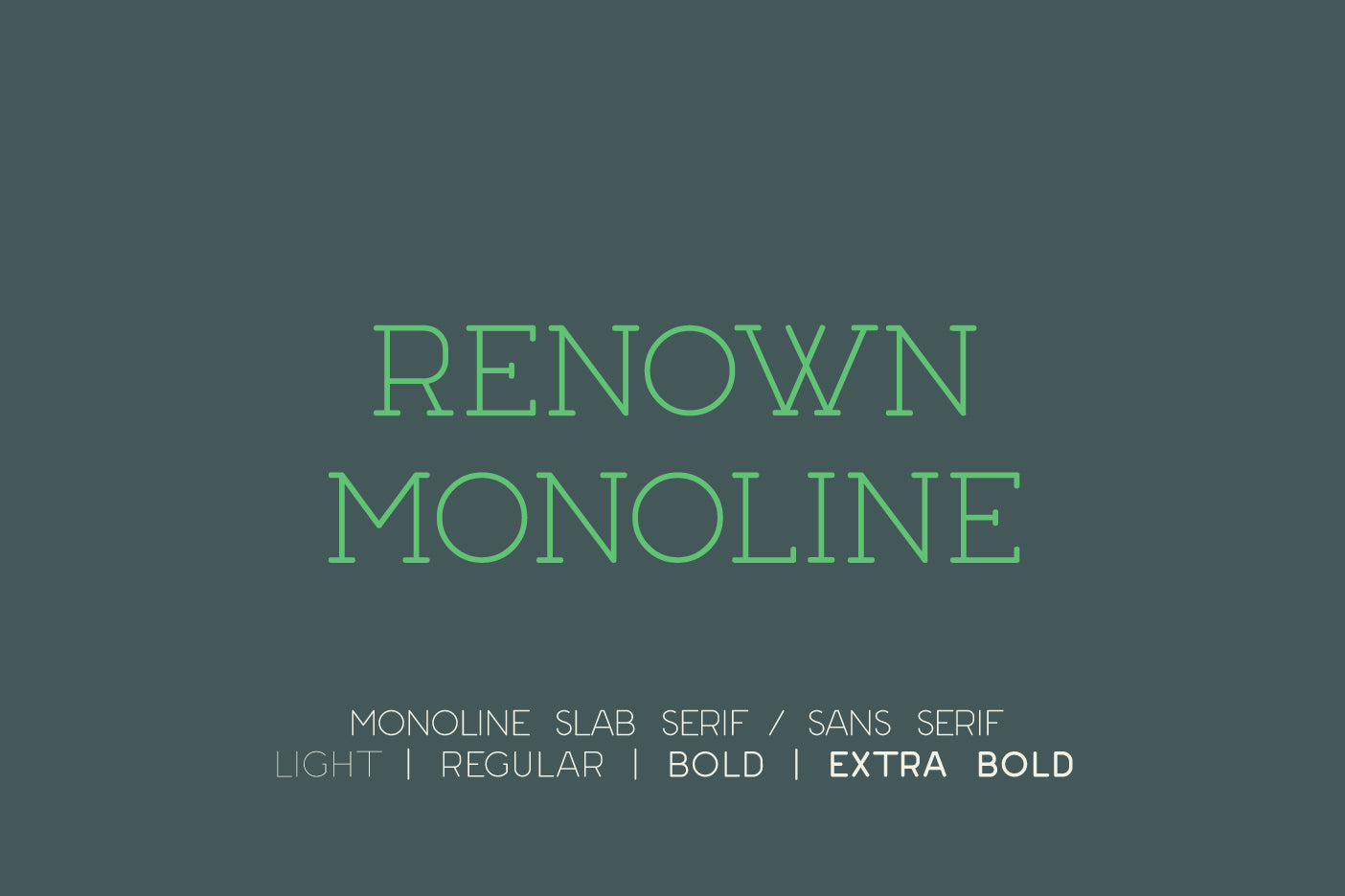 Renown Monoline Slab Serif Sans Serif font by Out of Step Font Company