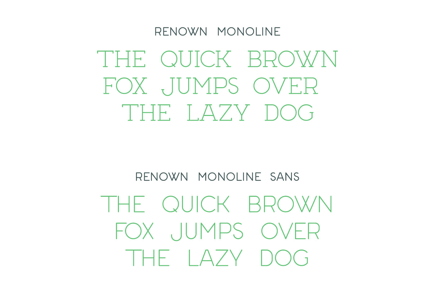 Renown Monoline - Modern Slab Serif and Sans Serif Font – Out Of
