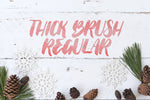 Thick Brush Regular modern calligraphy font by Out of Step Font Company