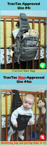 Travtac Stage II Sling Pack Baby Bag