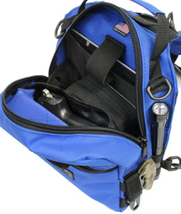 TravTac Patriot Sling Bag with sample items