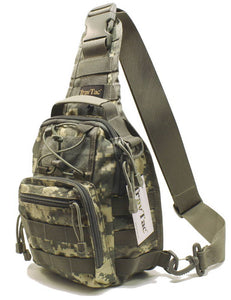 TravTac Stage I Sling Bag, Premium Small EDC Tactical Sling Pack 900D – ACU Camo - TravTac.com