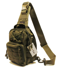 TravTac Stage I Sling Bag, Premium Small EDC Tactical Sling Pack 900D – Army Green - TravTac.com