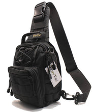 TravTac Stage I Sling Bag, Premium Small EDC Tactical Sling Pack 900D – Black - TravTac.com