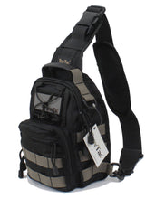 TravTac Stage II Sling Bag, Premium Small EDC Tactical Sling Pack 900D – Grey on Black - TravTac.com