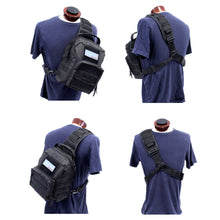 TravTac Onyx Tactical Sling Bag wearing