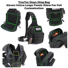 TravTac Onyx Tactical Sling Bag Eleven Loop Panels