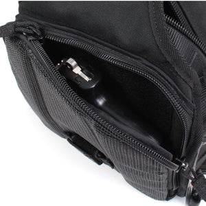 TravTac Onyx Tactical Sling Bag - rear view Concealed Carry