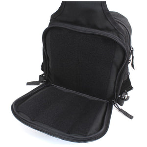TravTac Onyx Tactical Sling Bag - rear view open