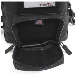 TravTac Onyx Tactical Sling Bag front pocket open