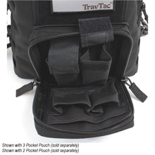 TravTac Onyx Tactical Sling Bag front pocket with addons 3