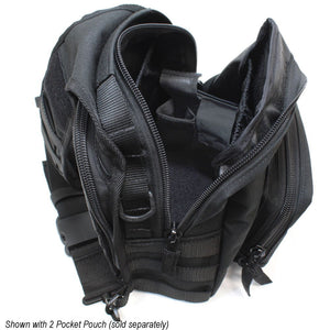 TravTac Onyx Tactical Sling Bag Main Compartment with addons