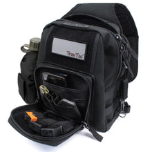 TravTac Onyx Tactical Sling Bag with sample items