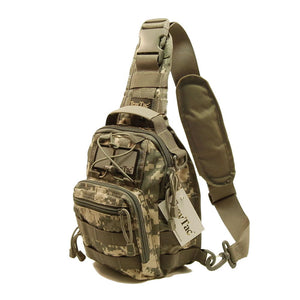 TravTac Stage II Sling Bag, Premium Small EDC Tactical Sling Pack 900D – ACU Camo - TravTac.com