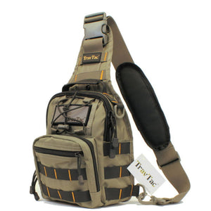 TravTac Stage II Sling Bag, Premium Small EDC Tactical Sling Pack 900D – Bi Color RGB - TravTac.com