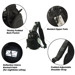 TravTac Tactical Sling Pack Stage II Small EDC Bag Features