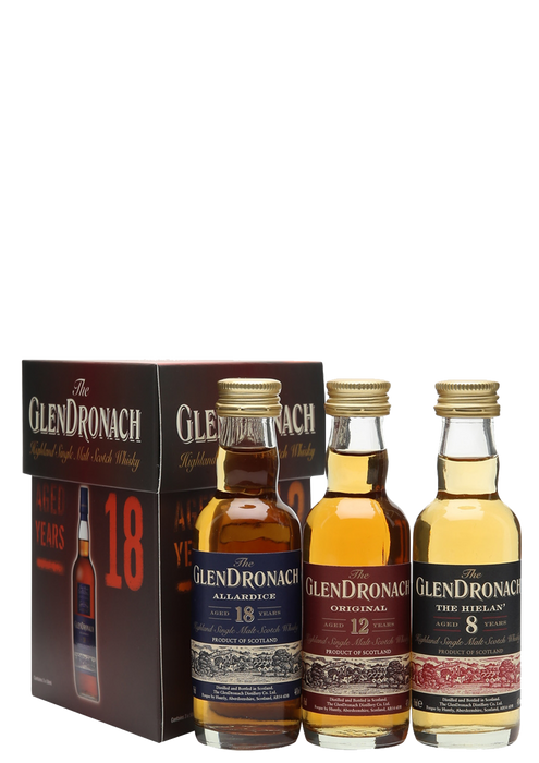 Glendronach Triple Pack Miniatures