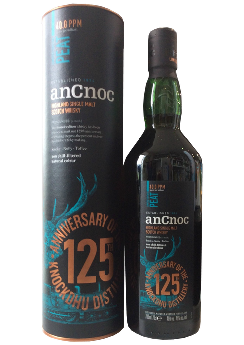 AnCnoc Peaty 125th Anniversary Ltd Edition
