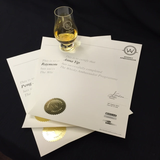 Whisky Ambassador Training Course 15th October 2019