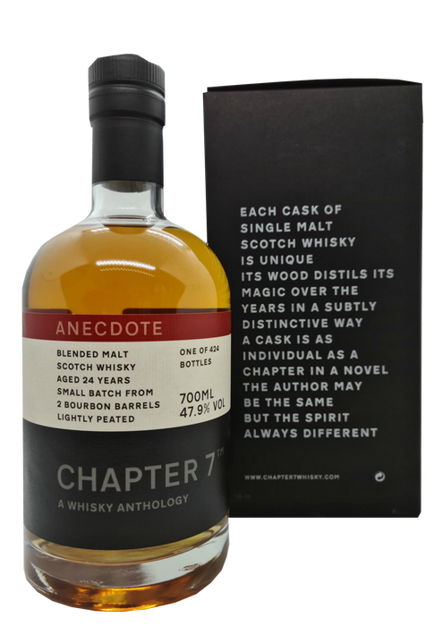 Chapter 7 Anecdote Blended 24 Year Old Malt