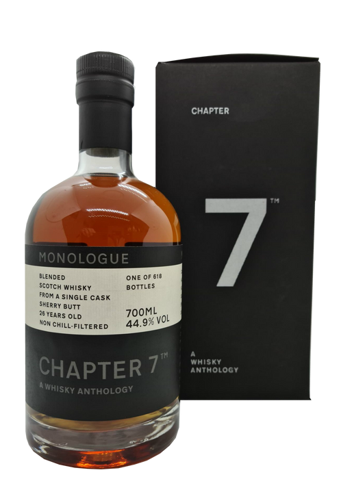 Chapter 7 Monologue Blended Scotch Whisky 26 Year Old