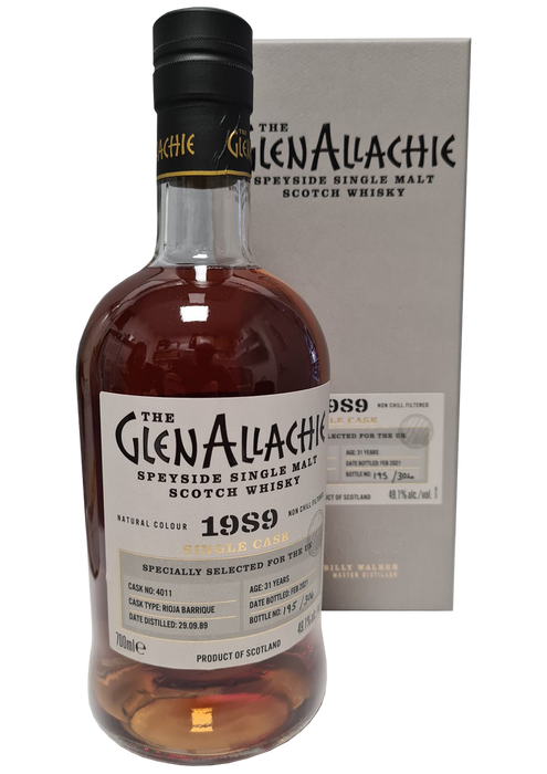 GlenAllachie 1989 31 year old Rioja Barrique Single Cask 70cl