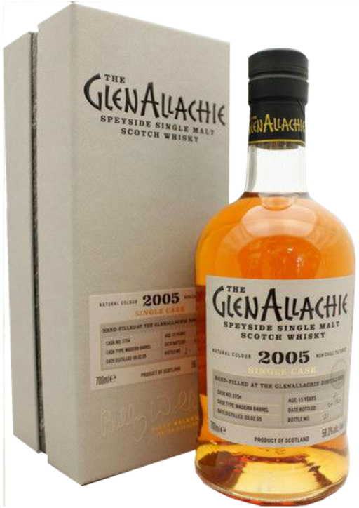 GlenAllachie 2005 Madeira 15 year old Single Cask #3754 Distillery Exclusive Hand-Fill
