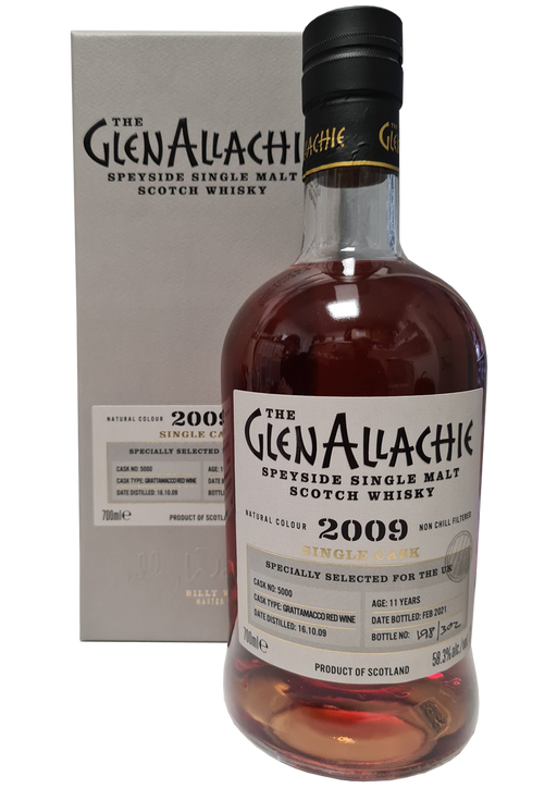 GlenAllachie 2009 11 year old Grattamacco Barrique 70cl