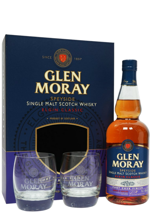 Glen Moray Port Whisky Glass Set