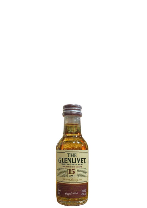 Glenlivet French Oak 15 year old miniature