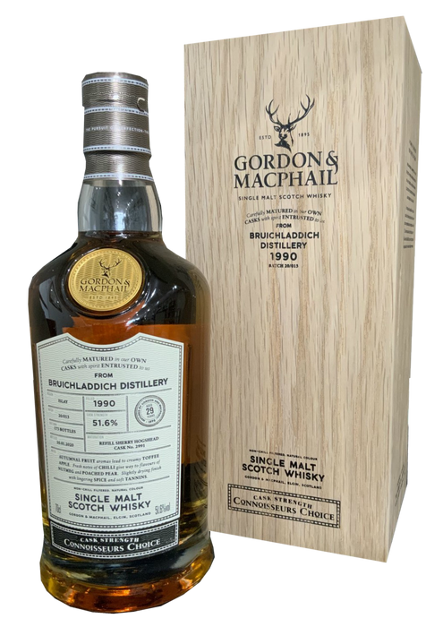 Gordon & MacPhail Bruichladdich 1990 29 Year Old Connoisseurs Choice