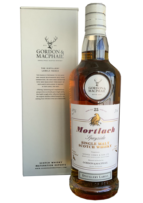 Gordon & MacPhail Mortlach 25 year old Distillery Label