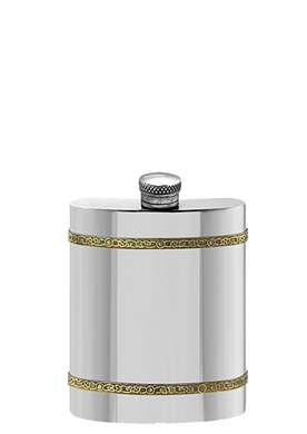 Hip Flask with Brass Band design