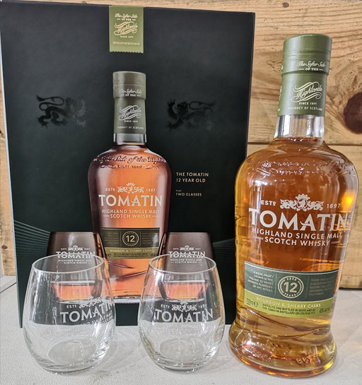 Tomatin 12 Year Old Sherry and Bourbon Cask Gift Set