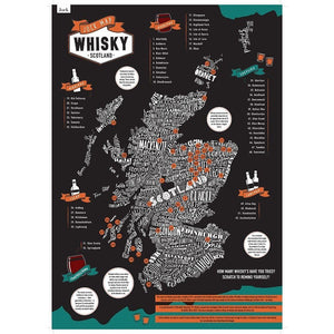 Scratch-it Scotland whisky maps