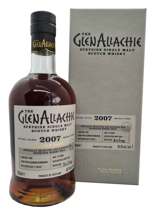 GlenAllachie Single Cask IWS Exclusive 2007 First Fill Oloroso Puncheon Cask #7169