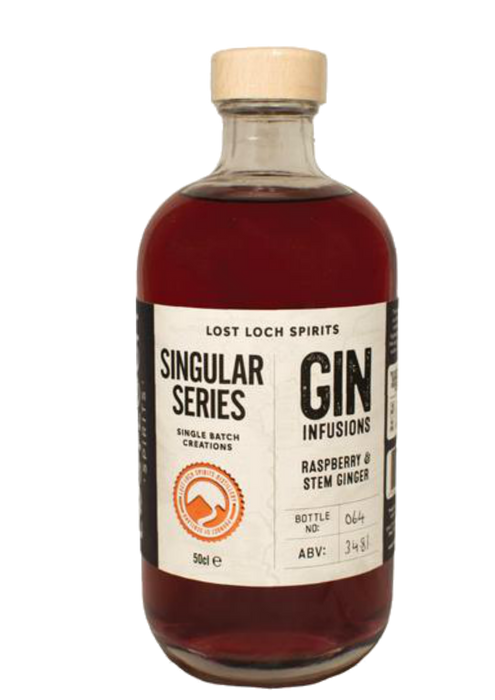 Lost Loch Spirits Singular Series Raspberry & Stem Ginger Gin Infusion