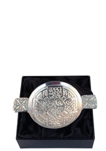 Pewter Quaich with Celtic Cross