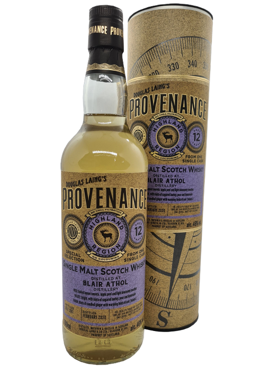 Douglas Laing Provenance Blair Athol 12 Year Old Refill Butt