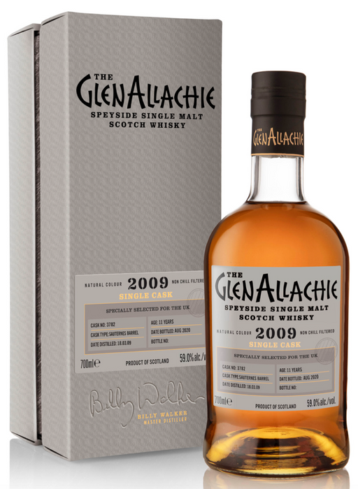 GlenAllachie Single Cask Batch #3 Sauternes Barrel 11 Year Old