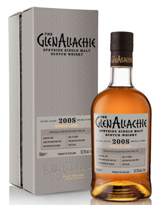 GlenAllachie Single Cask Batch #3 Ruby Port Pipe 12 Year Old