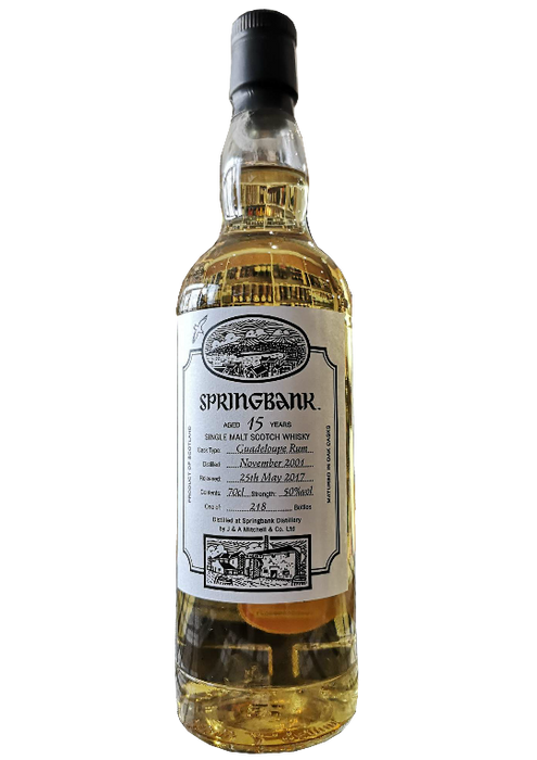 Springbank 15 Year Old Guadeloupe Rum