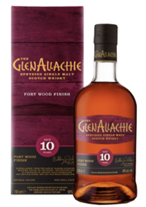 GlenAllachie 10 Year Old Port Pipe Wood Finish