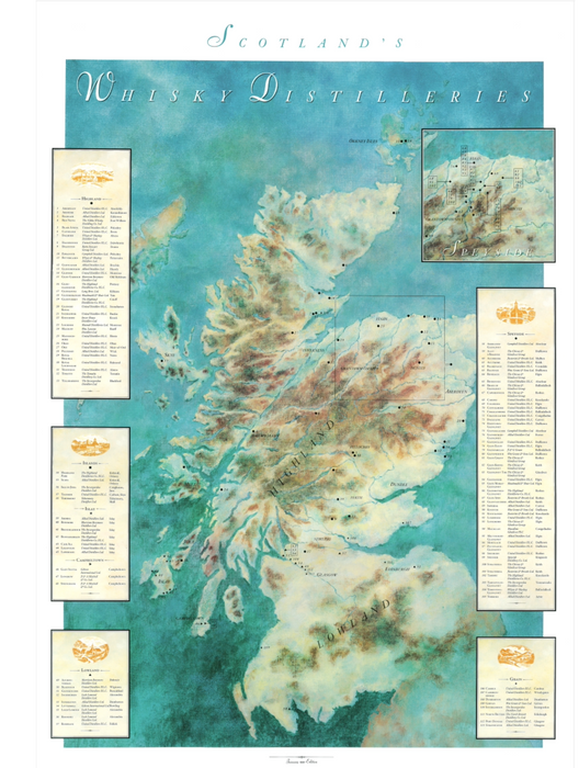 Whisky Distillery Map of Scotland