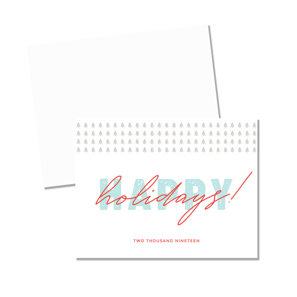Happy Holidays Folded - Printed Matter
