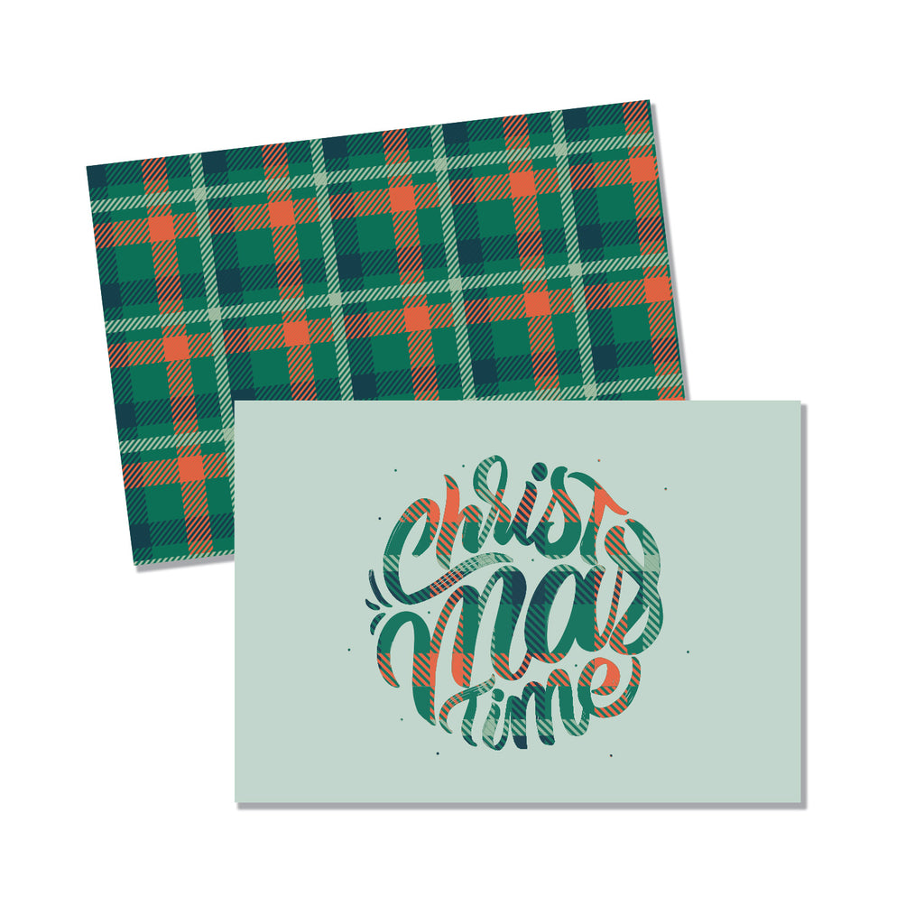 Plaid Tidings Folded - Printed Matter